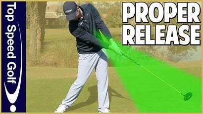 Golf Release Proper Swing Club Golfers Speed