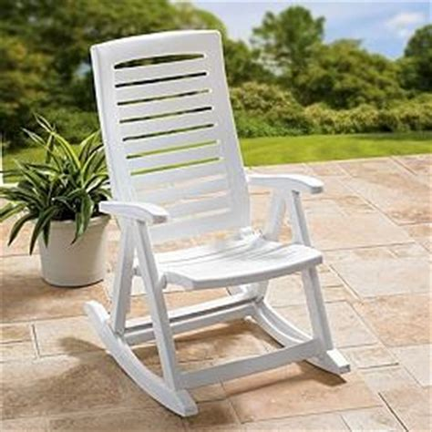 outdoor white resin rocking chair porch rocker deck