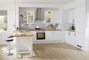 Cuisine Blanche Plan De Travail Bois : cuisine blanche en bois with galerie avec cuisine blanche ~ Preciouscoupons.com Idées de Décoration