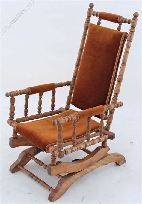 19c american walnut beech rocking chair