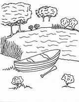 Lake Coloring Pages Para Colorear Nature Lago Lagos Imagenes Printable Print Drawing Getcolorings sketch template