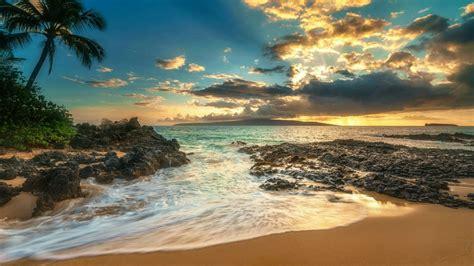 Usa, Hawaii, Island Of Maui, Makena Beach Hd Wallpaper