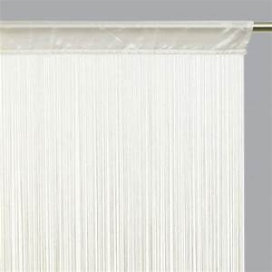 Fil Tringle Rideau : rideau de fil 90 x h200 cm uni ivoire rideau de porte ~ Premium-room.com Idées de Décoration