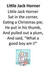 Little Jack Horner Nursery Rhyme