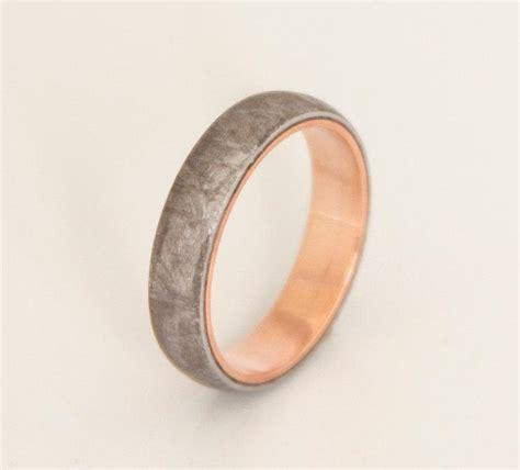 meteorite wedding promise ring mens wedding band woman
