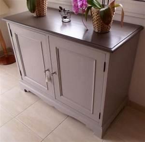 meuble renove de chez eleonore deco photo 2 10 joli With deco cuisine pour meuble en rotin