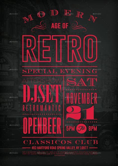 retro vintage typography poster vol  themergent