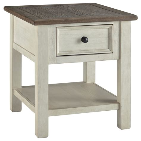 signature design  ashley bolanburg rectangular  table