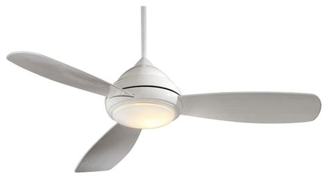 Modern White Ceiling Fans by 52 Quot Minka Aire Concept I White Ceiling Fan Modern