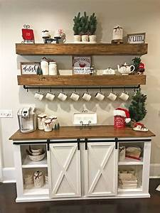 Sideboard Coffee Buffet Floating Shelves By Anna White