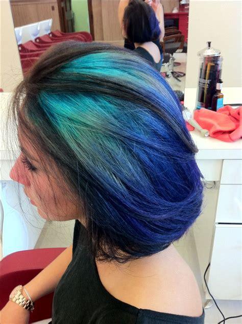 The Peacock Peek A Boo Highlights Hair Pinterest