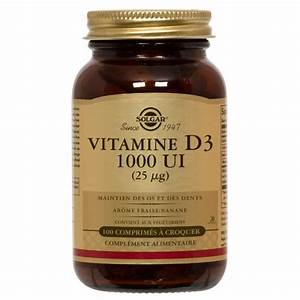 Vitamine D3 1000 UI 100 comprimés à croquer Solgar Onatera