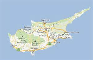 Cyprus Greece Map Islands
