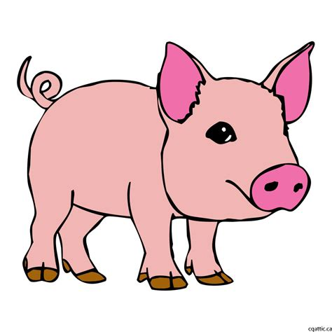 pig cartoon drawing   steps  photoshop