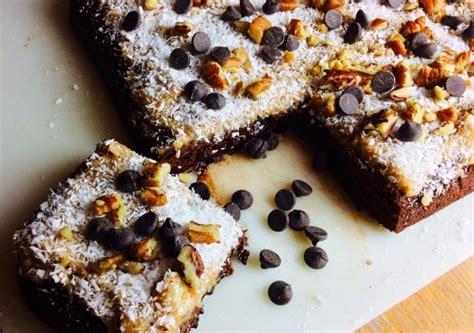 german chocolate caramel brownies vitacostcom blog