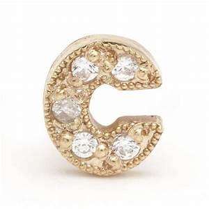 diamond letter earring lenawald With white gold letter earrings