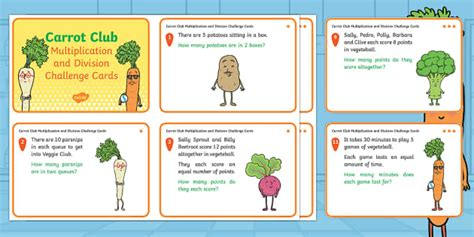 * New * Carrot Club Multiplication And Division Differentiated Challenge