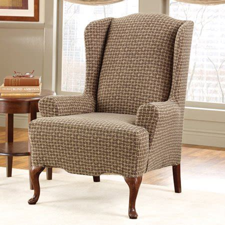 Wing Chairs Slipcovers by Surefit Stretch Baxter Wing Chair Slipcover Walmart