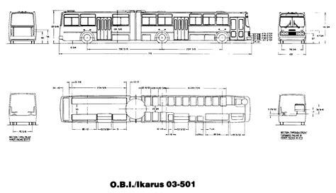 School Bu Dimension Diagram by The Iii Ikarus Articulated Transit Toronto