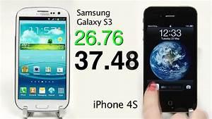 Galaxy S3 vs iPhone 4S Speed Test Comparison - camera ...
