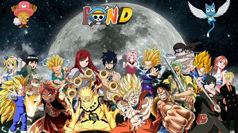 Fairy Tail One Piece Naruto Dbz Wallpaper By Chrisxfrostx