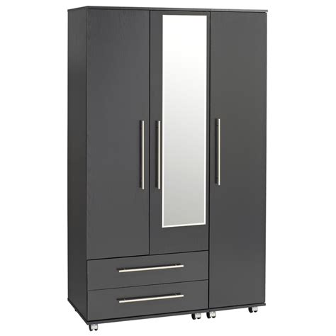 Wardrobe With Drawers And Mirror by Bobby 3 Door Wardrobe 2 Drawers Mirror Ideal Furniture