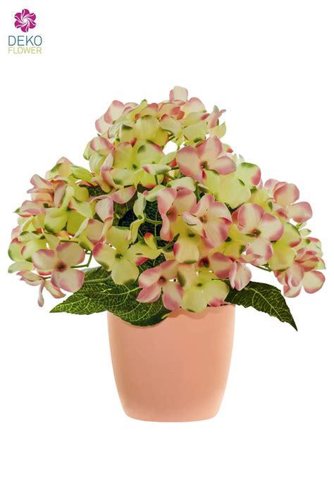 hortensien überwintern im topf k 252 nstliche hortensien im topf rosa 29 cm