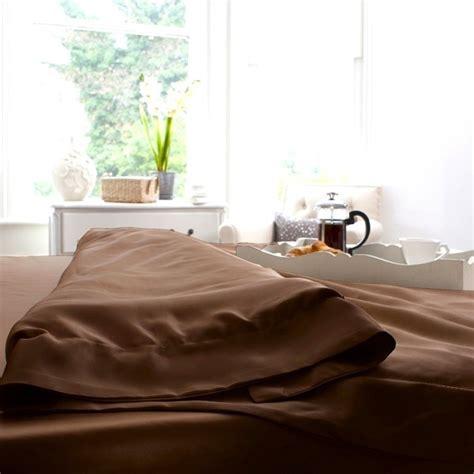 Mocha Silk Duvet Cover, Extra Comfortable & Luxurious