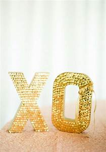 Gold wedding large sequin letters smp 2029369 weddbook for Large sequin letters