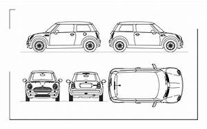 Mini Cooper 2d Dwg Plan For Autocad  U2013 Designs Cad