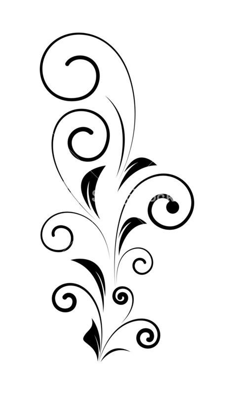 Decorative Swirls - decorative swirl design vector shape royalty free stock