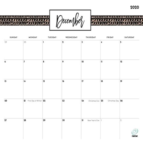 pretty patterns printable calendar  moms imom
