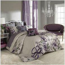 Sage Wall Color + Purple Curtainsbedspread Bedroom