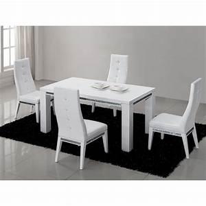 Table Haute A Manger : table repas design laquee blanche haute brillance achat vente table a manger seule table a ~ Teatrodelosmanantiales.com Idées de Décoration