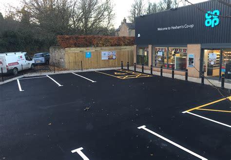 op car parking bay installation  hexham firstplaygrounds