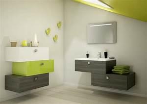 Meuble Salle De Bain Bois Et Blanc : meuble de salle de bain des exemples beaux joueurs ~ Teatrodelosmanantiales.com Idées de Décoration