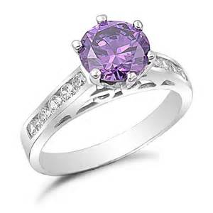 amethyst wedding ring sterling silver amethyst cz engagement ring kriskate co