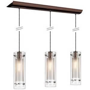 Kitchen Island Pendant Light Fixtures Shop Dainolite Lighting Stem 35 In W 3 Light Brushed Bronze Kitchen Island Light With Clear