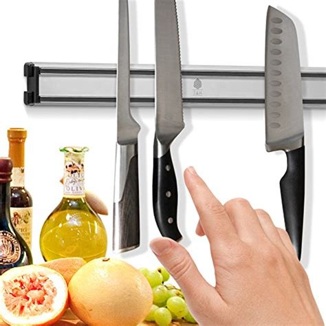 knife magnetic kitchen holder storage strip bar rack knives rust inches aluminum never holders ouddy amazon