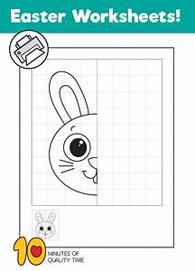 Bunny Symmetry Drawing Worksheet  U2013 10 Minutes Of Quality Time