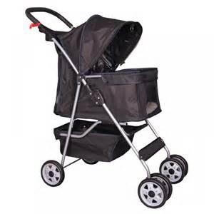 cat stroller 4 wheels pet stroller cat cage stroller travel folding