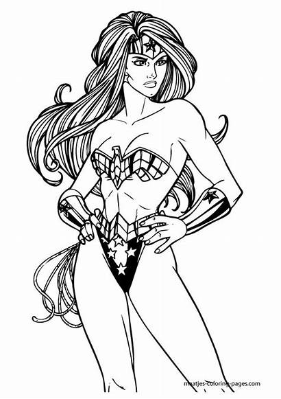 Coloring Pages Woman Wonder Maatjes Lady Dc
