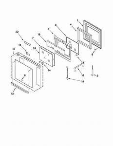 Upper Oven Door Parts Diagram  U0026 Parts List For Model