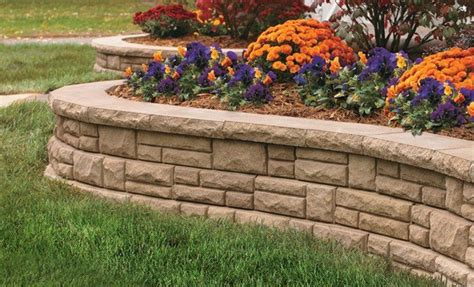retaining wall flower bed layout ideas