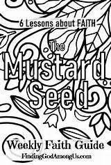 Coloring Seed Mustard Parable Printable Faith Booklet Among God sketch template