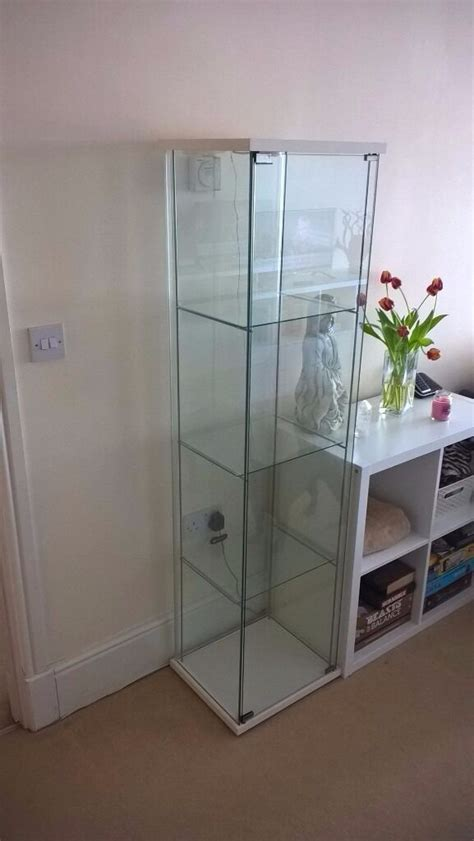 Ikea Detolf Glass Display Cabinet Light by Ikea Detolf Glass Display Cabinet In White With Fitted