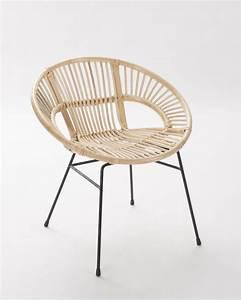 Pouf En Osier : fauteuil rotin pied metal brin d 39 ouest ~ Teatrodelosmanantiales.com Idées de Décoration