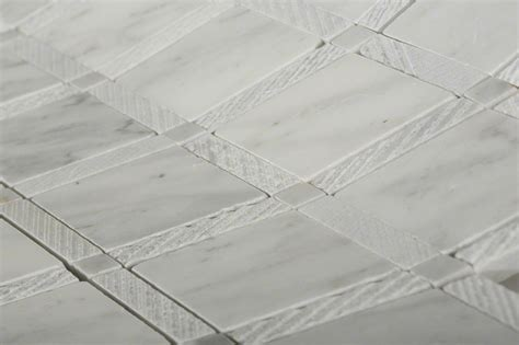 imperial texutred white carrera marble tiles glass