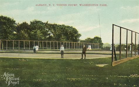 tennis court washington park albany postcard project