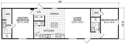 1 Bedroom Single Wide Mobile Home Floor Plans